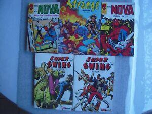 MARVEL LUG LOT DE 5 BD / NOVA / SPECIAL STRANGE / SUPER SWING