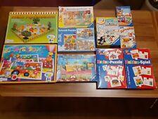 Spiele und Puzzle Konvolut für Kinder - 10 Teile
