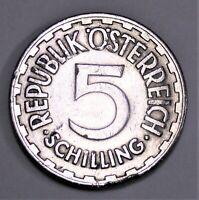 Österreich  5 Schilling 1952  - Wappenadler - Randfehler nur ss / only vf