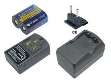 PowerSmart Akku + Ladegerät für Panasonic 223 CR-P2S DL223A K223LA