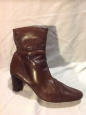 Jones Boot Maker Brown Ankle Leather Boots Size 41