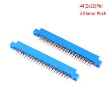 Conector de borde de tarjeta de PCB doble de 2 X 22 Pines 44 Pines Zócalo de Soldadura de ranura de oro 3.96mm FG