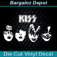 Vinyl Decal ... KISS .. Band Faces Car Laptop Sticker Vinyl Decal Drummer Criss