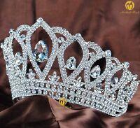 Royal Wedding Bridal Tiara Clear Rhinestone Crown Pageant Prom Hair Accessories