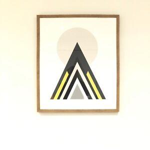 Large Geometic Framed Prints