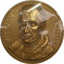 Us Mint William Henry Harrison Presidential High Relief Bronze Inaugural Medal