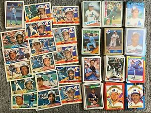 Montreal Expos Baseball Cards 1,000 + Different 1977 Team Set Rookies Stars MORE