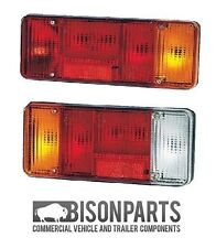 *IVECO EUROCARGO Rear Light Lens PAIR One With Fog One With Reverse BP90-101/102