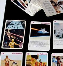 Krieg der Sterne Quartett Spiel, Star Wars Cards, FX Schmid von 1978 RAR TOP