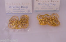 Wedding Reception Craft Card Making Embellishments (48) Gold Rings Party Favors