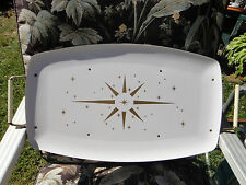 Retro Mid Century Atomic Space Age Star Burst  enamel TV serving Tray