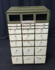 USED 22 Drawer BRENNER METAL Military Medical Instrument & Supply Chest Insert