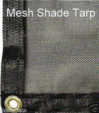 Premium Mesh Net w/Grommets-8'x10' garden netting w/taped edges-shade tarp-black
