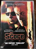 The Score DVD 2001 Robbery Crime Thriller Movie w/ De Niro Brando + Norton