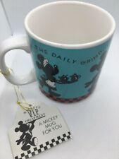 "Disney Mickey Minnie Mouse ""The Daily Grind"" Coffee Mug Cup Gibson VIP"