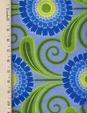 SWEET LADY JANE Daisy Chai FREE SPIRIT 100% Cotton Fabric priced by the 1/2 yard