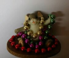 Enesco Charming Tails Mardi Gras Mouse