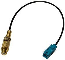 Câble adaptateur fiche FAKRA vert femelle RCA femelle caméra de recul video-in