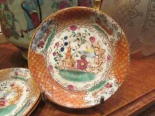 3 anciennes coupelles sous tasses en porcelaine decor japonais