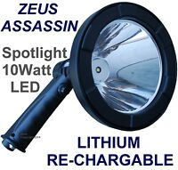 ZEUS CREE T6 LED SPOTLIGHT HANDHELD HUNTING SPOT LIGHT RECHARGEABLE SPOTLIGHTING