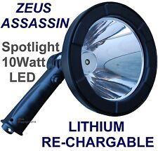 ZEUS CREE T6 LED SPOTLIGHT HANDHELD HUNTING SPOT LIGHT RECHARGEABLE SPOTLIGHTING
