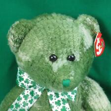 TY CLASSIC BEANIE BUDDY LUCKY GREEN SHAMROCK 4 LEAF CLOVER MCWOOLY MWOT PLUSH