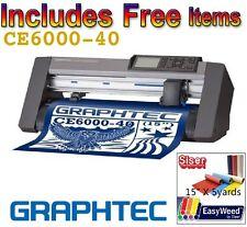 "GRAPHTEC CE6000-40 15"" VINYL CUTTER + FREE HEAT TRANSFER VINYL + FREE SHIPPING!!"