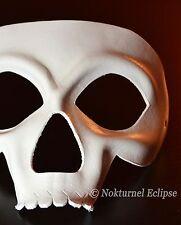 White Skull Leather Mask Masquerade Calavera Dia De Los Muertos Halloween UNISEX