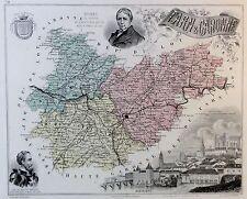 Tarn & Garonne - kolorierter Kupferstich - ca. 1840 - Barbier - Ch. Dyonnet (06