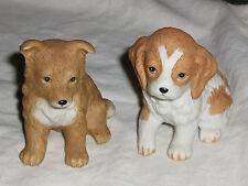Homco #8828 Pair Of Sitting Puppies