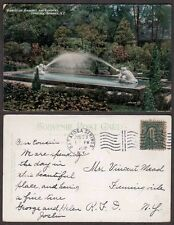 1908 New York State Postcard - Saratoga Springs - Gardens (To Mead)
