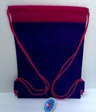 "PEPPA PIG- Butterflies- 14"" Children Sling Drawstring backpack  Tote Bag-NEW"