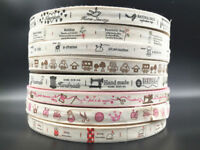 15mm Printed Cotton Ribbon Handmade 5-10y Gift Present Package DIY Sewing Craft