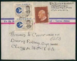 Mayfairstamps Colombia 1965 to Estudios de Conversacion Alianza Kennedy Block Co