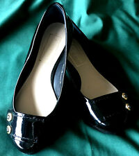 M&S Autograph Ladies Patent Leather Flat Court  Shoes, size 3 Wider Fit