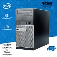 Dell Desktop Computer PC🚩16GB 2TB HDD Quad Core i5🚩Windows 10 Pro PC WiFi DVD