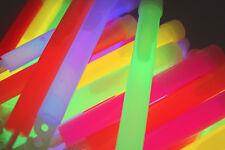 50x Power MEGA Knicklichter, 150x15 mm FETT und HELL Leuchtstäbe, 6 Farben Öse