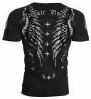 Archaic AFFLICTION Mens T-Shirt LIBERTY Cross Wing Tattoo Biker MMA UFC $40