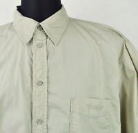 Wrangler Ouest Beige Chemise Décontractée Homme XXL Coton Vintage Court Polo 2XL