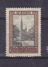 Danzig, Freimarke 1924 10 Gulden Falz siehe Scan