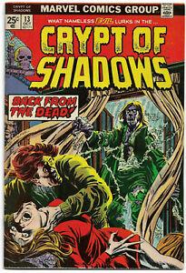 CRYPT OF SHADOWS#13 FN/VF 1974 MARVEL BRONZE AGE COMICS