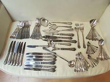 ancienne menagere metal argenté st L XV poincon couteau fourchette pieces forme