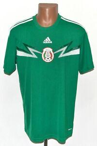 MEXICO NATIONAL TEAM 2014/2015 TRAINING COTTON FOOTBALL SHIRT JERSEY ADIDAS L