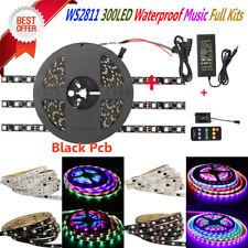 Ws2811 5050 Waterproof 300led Black PCB Music Sound Full Kits Dc12v LED Adapter