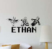Personalized Lego Wall Decal Superhero Playroom Decor Custom Vinyl Sticker 550