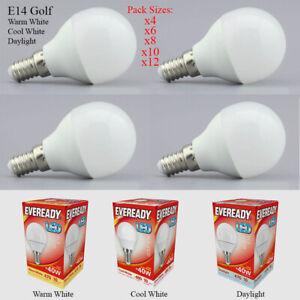 E14 LED 5.2W = 40W Golf Round Globe Light Bulb Lamp Warm White Cool Daylight UK