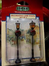 "Train Garden Village House "" 2 Rustic Lamp Posts Accessory "" +Dept 56/Lemax info"
