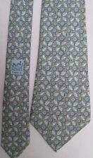 -AUTHENTIQUE cravate cravatte  HERMÈS   100% soie  TBEG  vintage