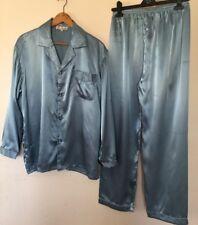 Men's Satin Grey Green Blue  Pyjama Size XL Uk M -LBrand New.