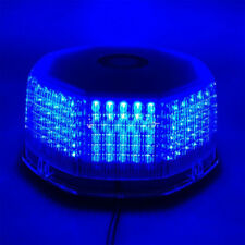 240 LED Flash Strobe Rotating Round Beacon Rooftop Emergency Light Blue 12v